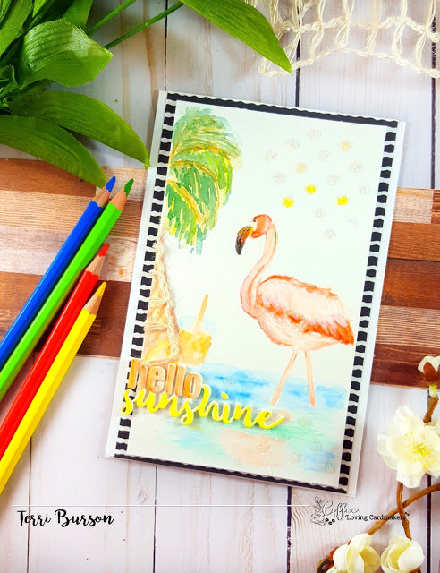 Hand Drawn Watercolor Flamingo