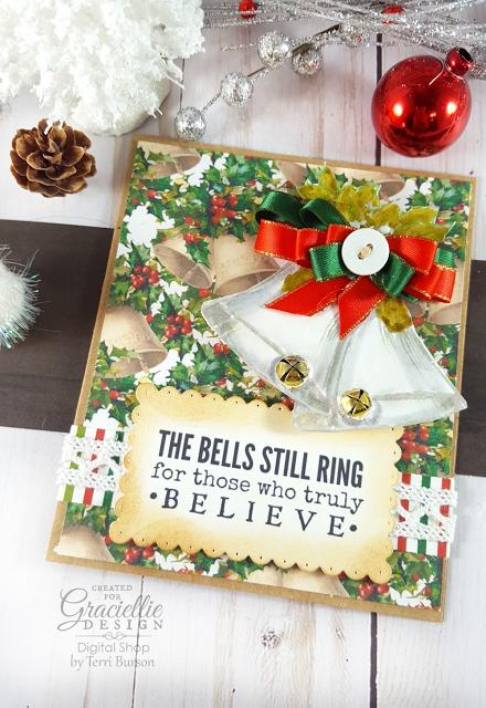 Christmas Jingle Bells Card for Graciellie Design