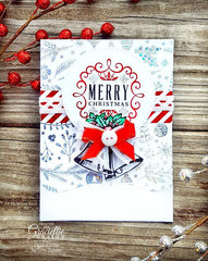 Elegant Christmas Card featuring Thermoweb & Graciellie Designs