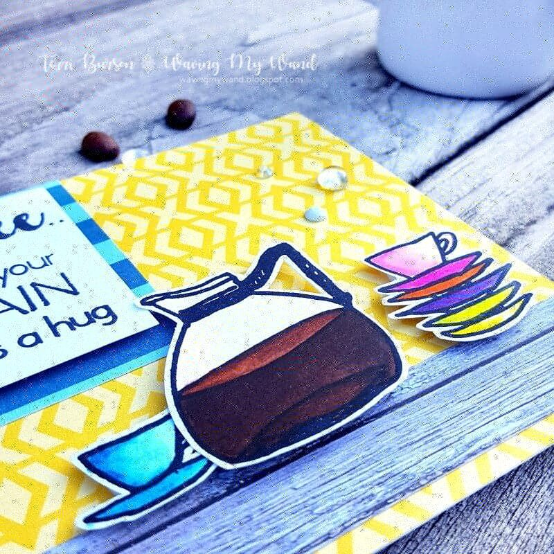 Colorful Coffee Card Featuring Altenew