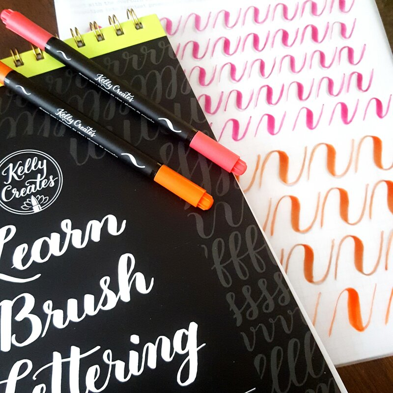 Brush Lettering and class with Kelly Creates