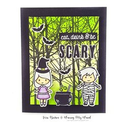 Halloween Card with Eerie Sky Ink Blending