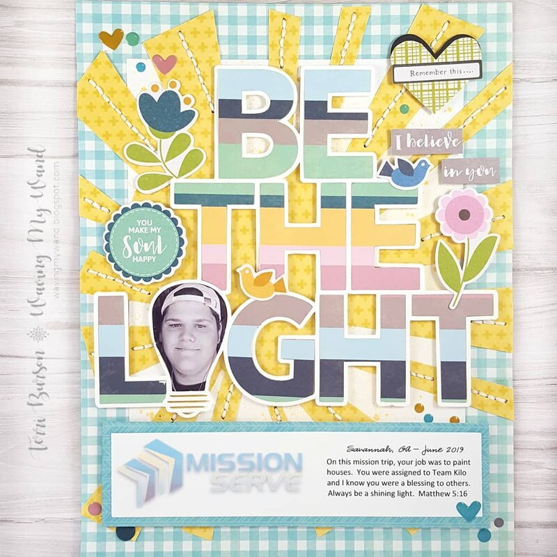 Be The Light Mission Themed Layout
