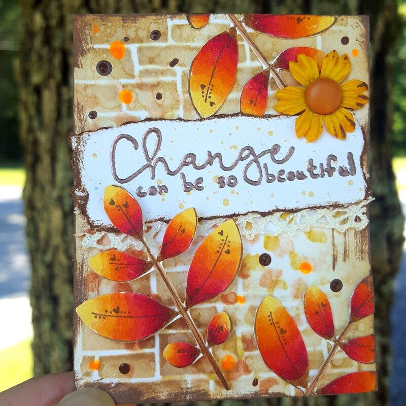 Autumn Artist Trading Card