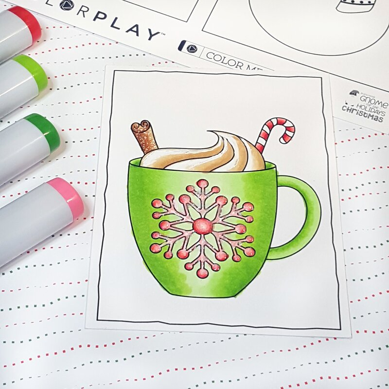 Coffee or Cocoa? Photo Play Paper Holiday Colorplay