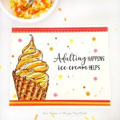 Ice Cream Swirl Card with Colorado Craft Company