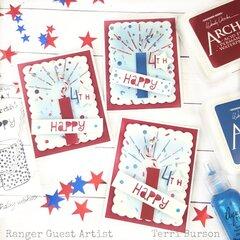 Patriotic Firecracker Mini Cards for Ranger