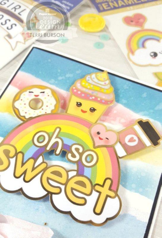 Kawaii Rainbow Card