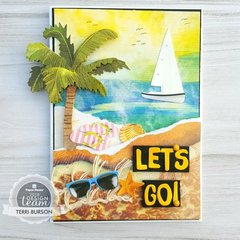 Vacation Beach Card featuring Paper House Productions