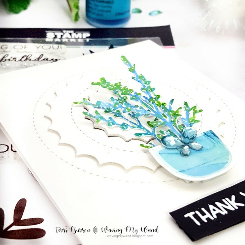 Spring Card Duo featuring Alcohol Ink and Ink Lift