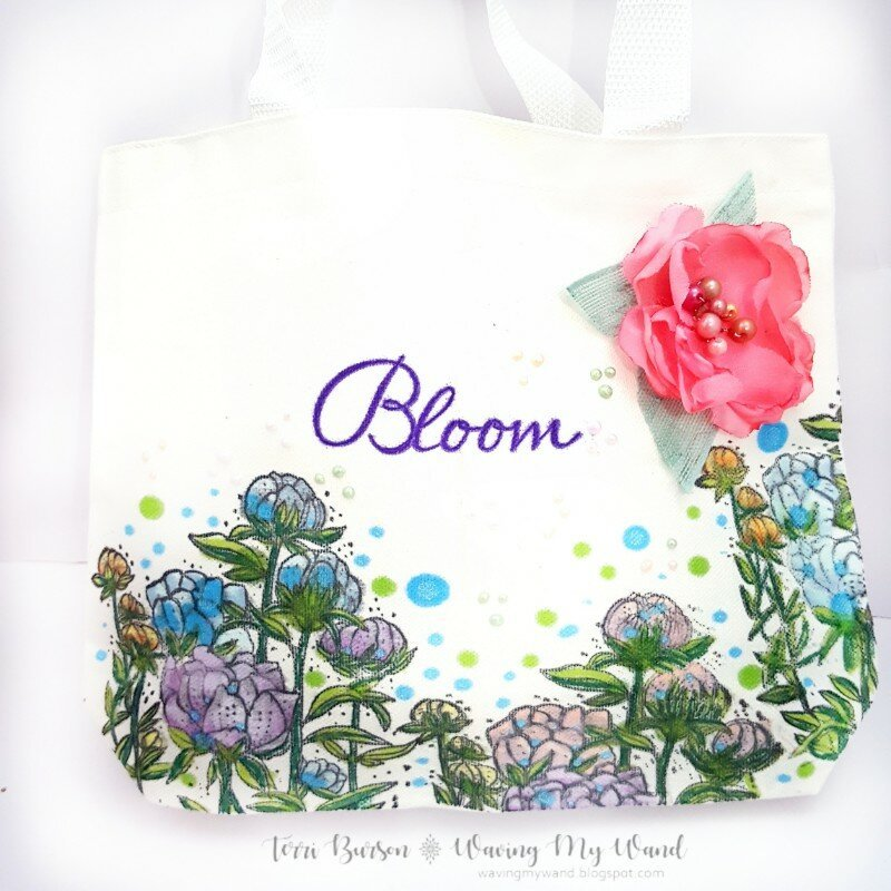 Stamped & Colored Tote Bag