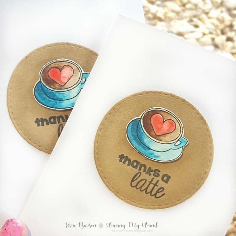 Watercolored Latte Love Card Gift Set