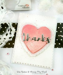 Stacked Hearts Thank You Card with Foiling