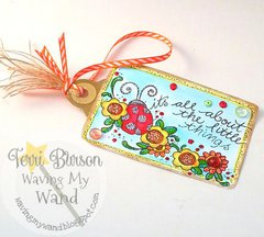 Decorative Tag featuring ADORNit Art Play Paintables