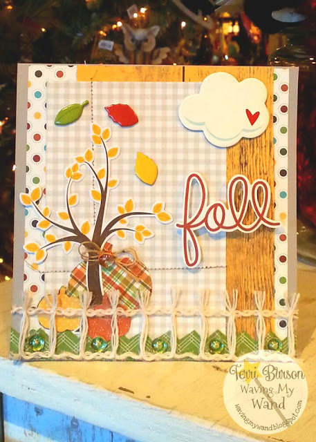 Fall Card featuring Simple Stories Pumpkin Spice and Skittles