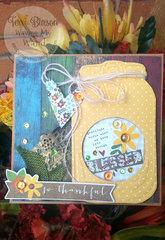 Gratitude Mason Jar Card