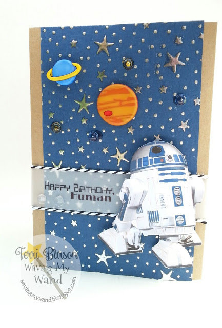 Star Wars R2D2 Robot card / Cricut Explore Print & Cut feature