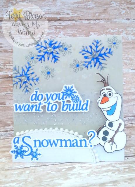 Olaf Snowman card featuring Cricut Explore