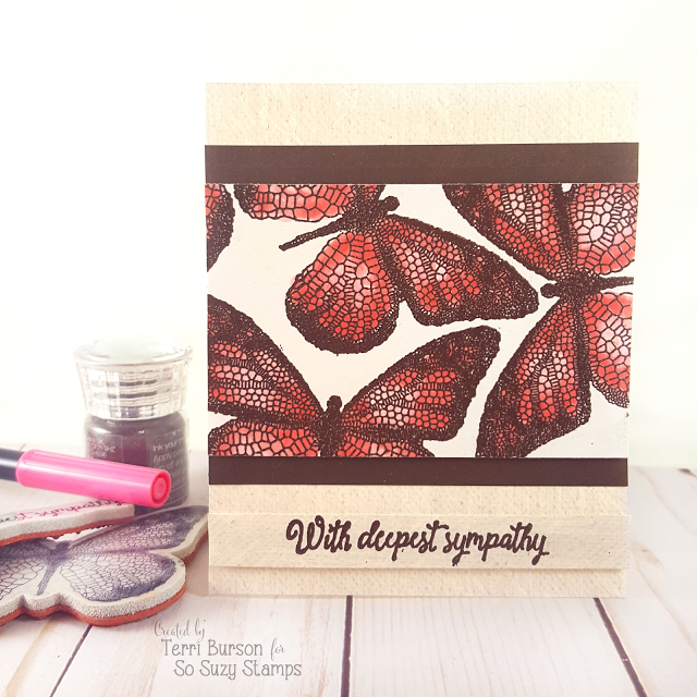 Embossed Butterfly Sympathy Card
