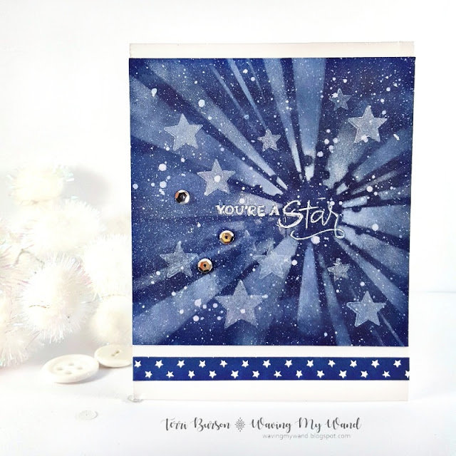 Starry Galaxy Card for Autism Awareness