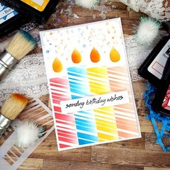 Stenciled Birthday Card featuring Ranger Products