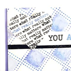 Stencil Stitched Watercolor Card