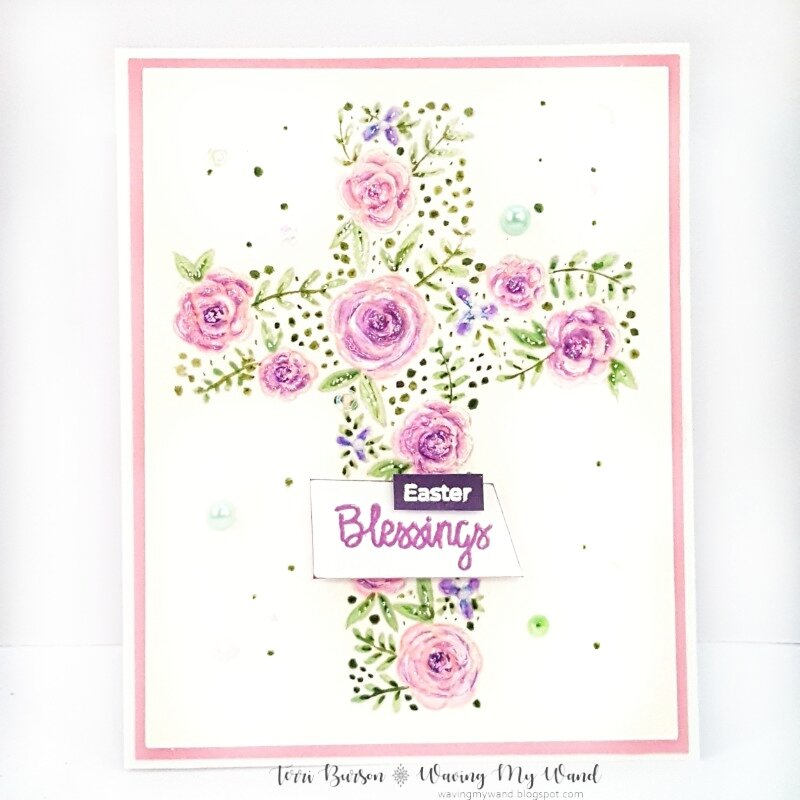 Easter Floral Cross Card
