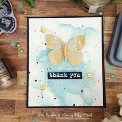 Thank You Cards Featuring Ranger Ink Speckled Egg