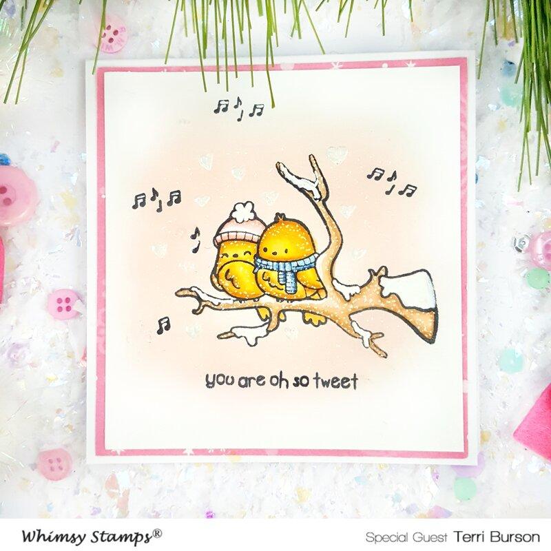 Wintry Valentine Card