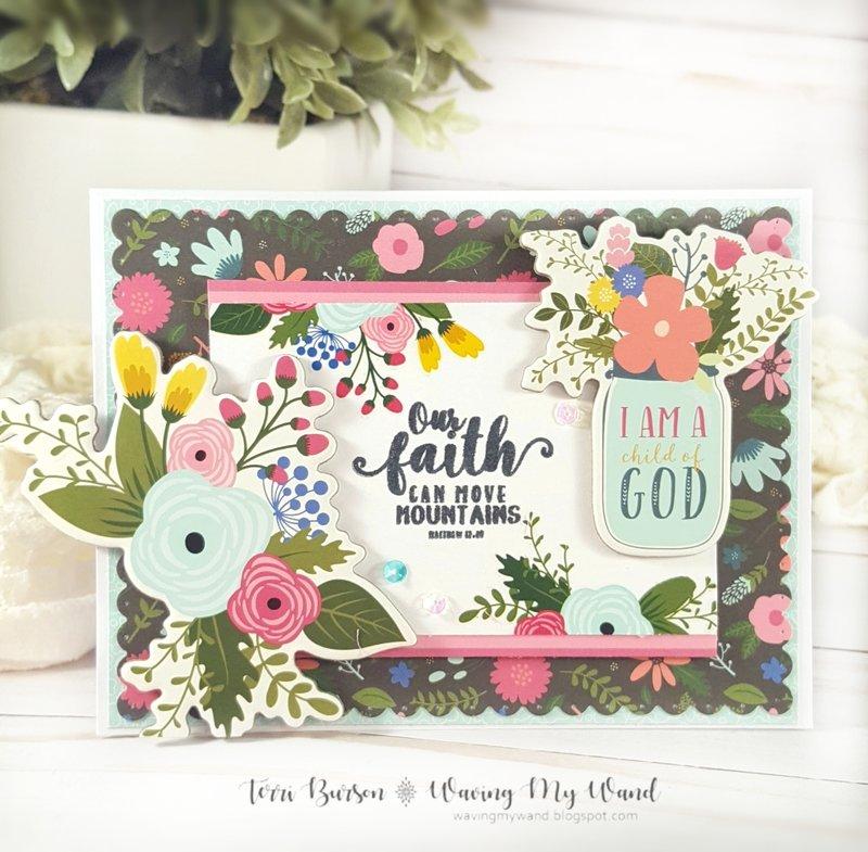 Faith / Encouragement Card Featuring Echo Park Paper Have Faith Collection