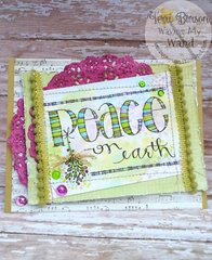 Peace on Earth Card featuring Adornit and Tombow