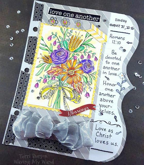 Devotion Art Journal page for Adornit Planner