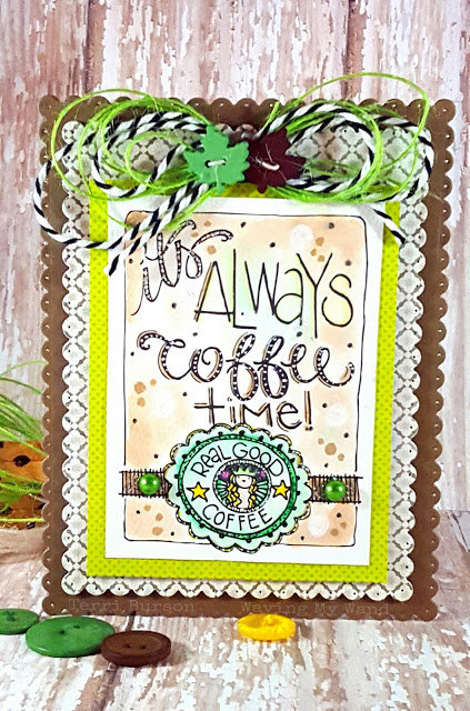 Coffee Time with Adornit featuring new Art Play coloring images