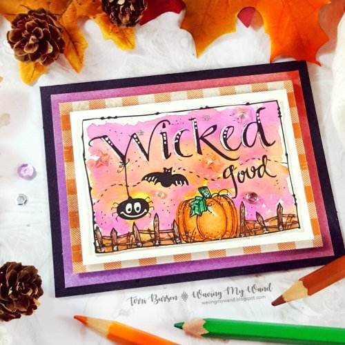 Wicked Good Halloween Card Featuring Adornit
