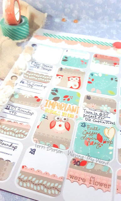 Adornit Planner layout with Kaisercraft and Cricut Explore free file