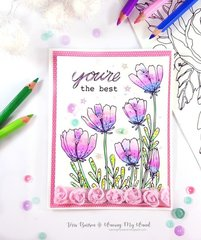 Floral Card featuring Adornit Paintables