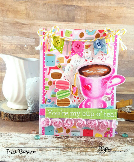 Cup of Tea Card for Coffee Loving Cardmakers