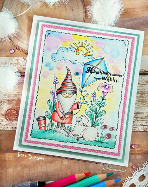Coffee Loving Gnome featuring Adornit Art Play