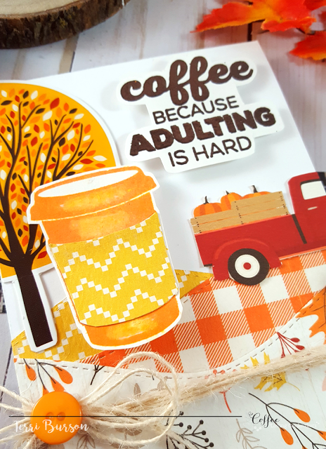 Coffee Loving Cardmakers Fall Blog Hop featuring Echo Park Paper