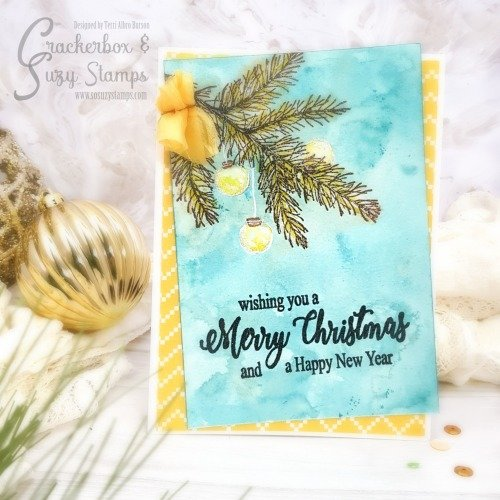 Embossed Christmas Card with Smooshing Technique