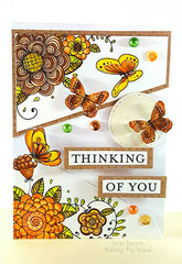 Thinking of You Card - Coloring with DCWV