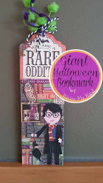 """Giant Halloween """"Harry Potter-ish"""" Bookmark with Graphic 45"""