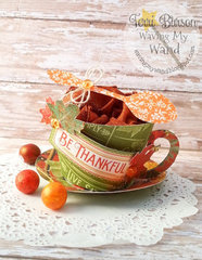 Gratitude Teacup gift set featuring Graphic 45 and Cricut