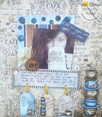 Coffee Talk Layout with Heartfelt Creations