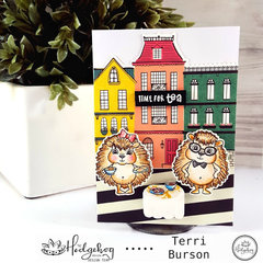 Hedgehogs and Tea Card