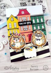 Hedgehogs and Tea Card