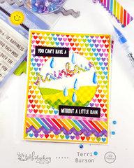 Rainbow and Raindrops Card