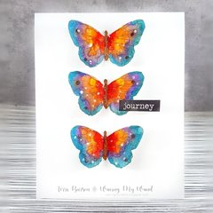 Watercolor Rainbow Butterfly Card for Just Cards Video Hop