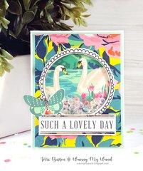 Modern Wedding Shaker Card w/ Crate Paper Flourish