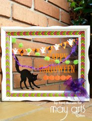 Design Team project for May Arts Ribbon- Upcycled Halloween Picture Frame